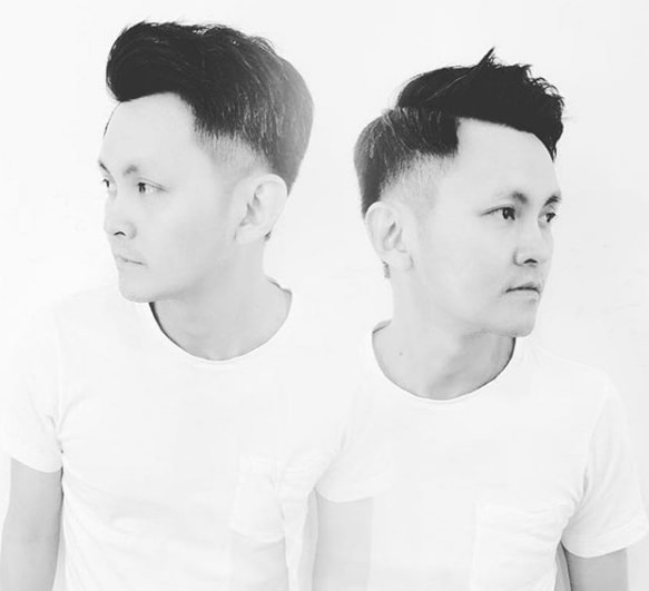 Side Part Combover with Low Fade Men Hairstyle