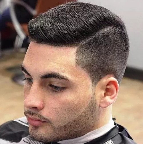 Side Part with Short Flat Top