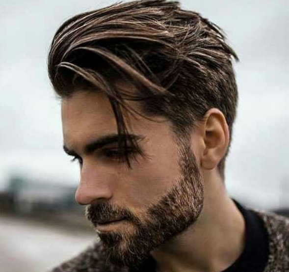 Side Part Medium Hairstyle for Men