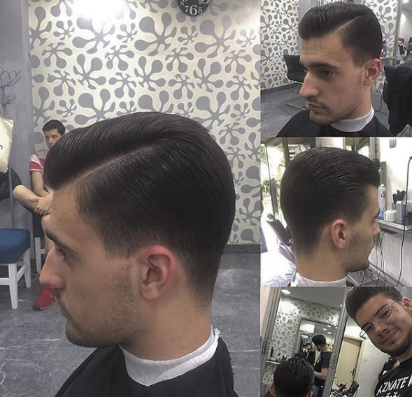 Side Part Pompadour Men Hairstyle