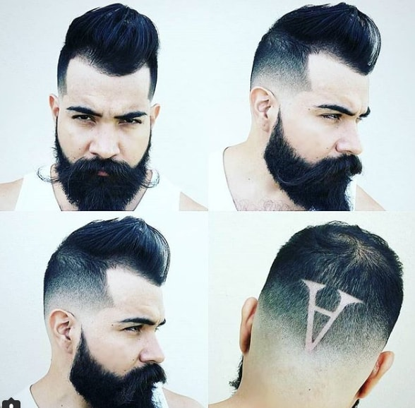 Spiky Low Fade with Back Design