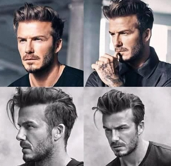 Long Side Parted Men Hairstyle
