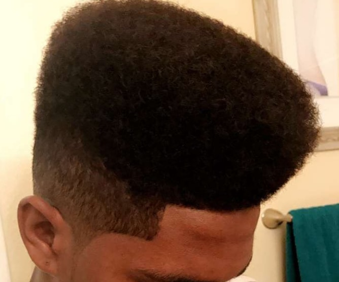 Tall + Wide Hi-Top Fade Men Hairstyle