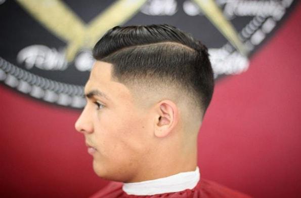 Taper Mid Fade Comb Over Short Haircut
