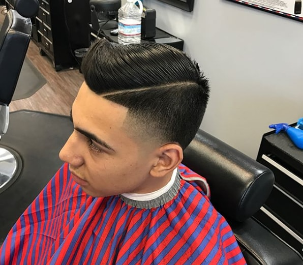 Taper Fade Comb over Haircut for Men