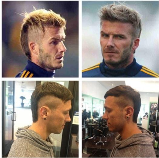 Beckham's Shag Hairstyle