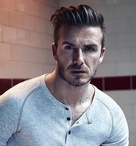 Textured Layered Brushed Back - David Beckham Hairstyle
