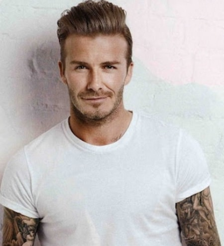 Short Sides with Brushed Back - David Beckham Hairstyle