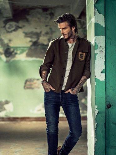 Medium Length David Beckham Hairstyle