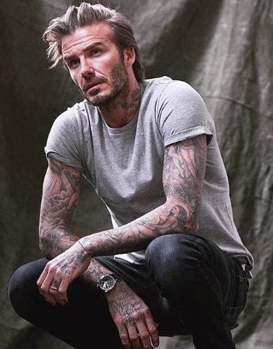 Messy David Beckham Hairstyle