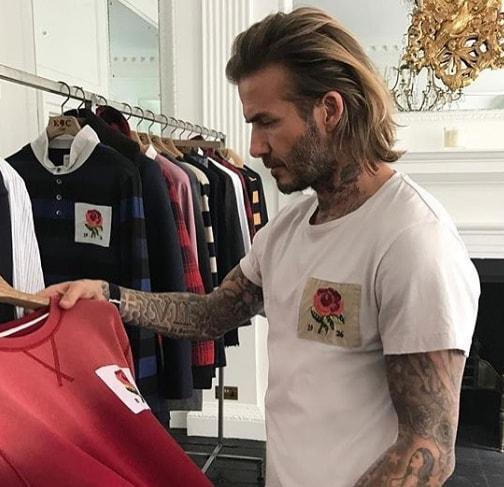 Long Back David Beckham Hairstyle
