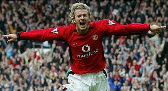Long Brushed Back David Beckham Hairstyle