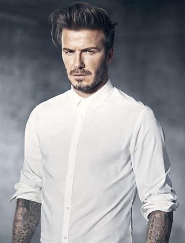 Long David Beckham Hairstyle