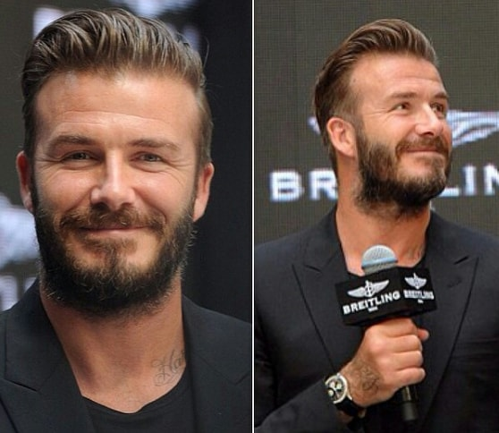 Side Parted David Beckham Hairstyle
