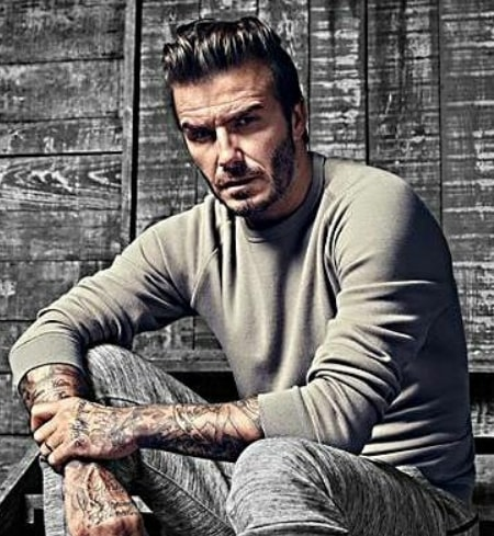 David Beckham Hairstyle with Beard