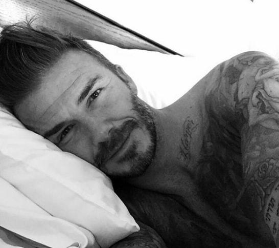 Brushed Back - David Beckham Hairstyle