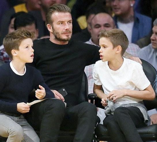 Brushed Back David Beckham Hairstyle