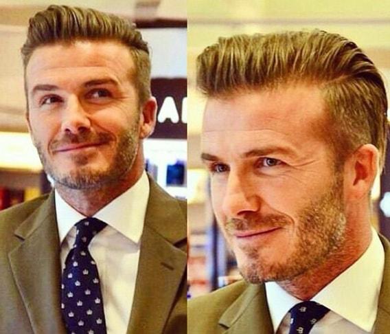 David Beckham Medium Length Hairstyle