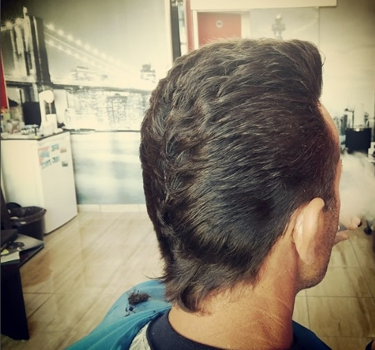 Duck Tail Pompadour Men Hairstyle