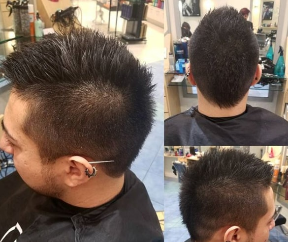 7. Short Faux Hawk WIth High Fade