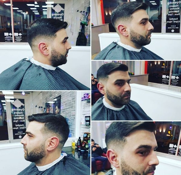 Side Swept With Low Fade
