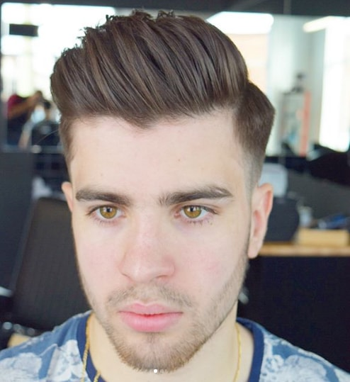 Low Fade With Long Comb Over Hair
