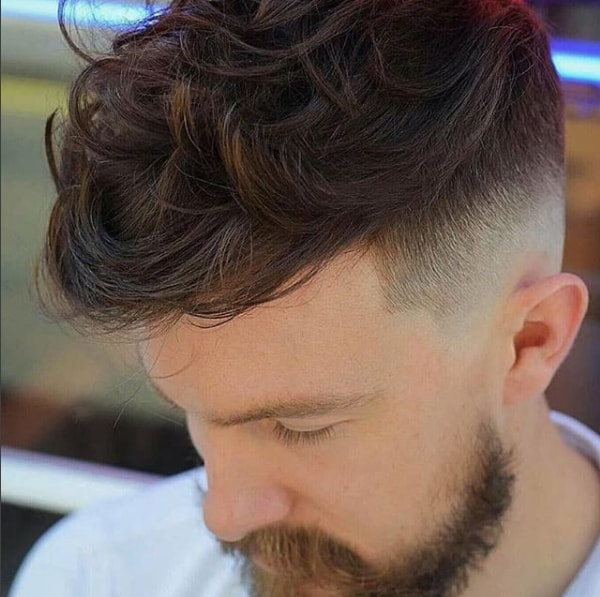 Messy Fringe On Top With Low Fade