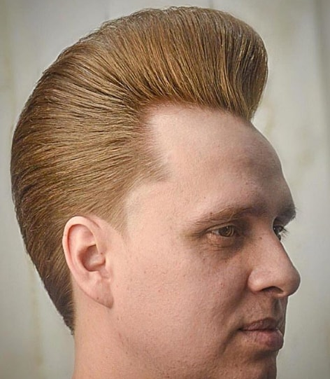 Medium Length Pompadour Men Hairstyle