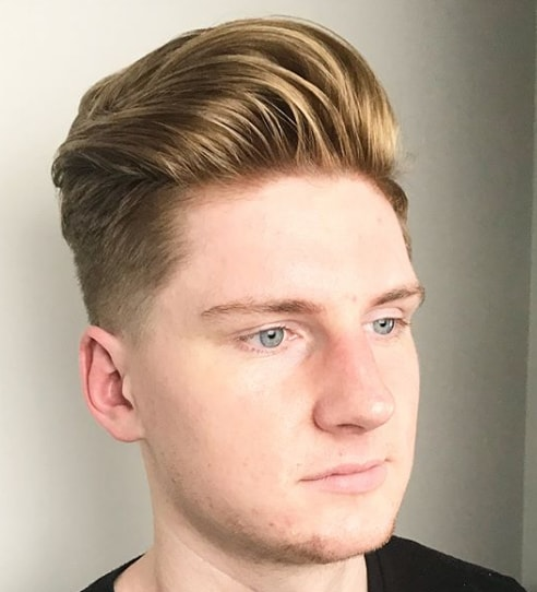 Mid Taper Fade + Classic Brushed Back