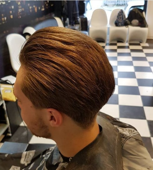 Tapered Sides with Thick Brushed Back Hair