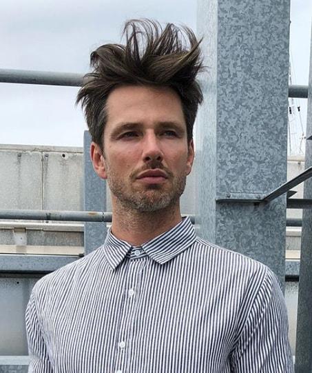 Texture Top Medium Length Men Hairstyle