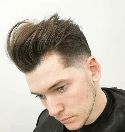 High Quiff with Low Fade Men Hairstyle