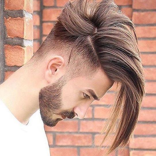 Medium Bald Drop Fade Men Hairstyle