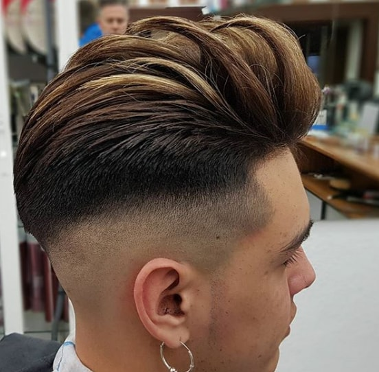 Mid Bald Fade with Silk Comb Over