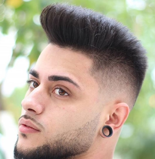 High Taper Fade + Comb Over with Beard