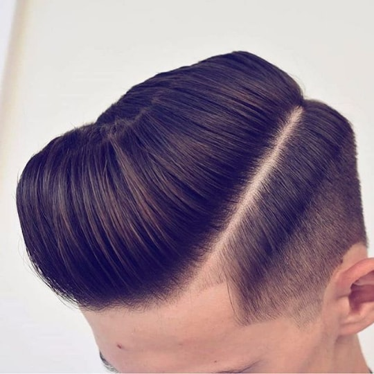 Modern Pompadour With Low Fade