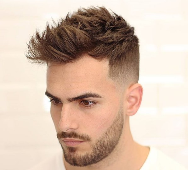 Short Length Textured Haircut For Guys