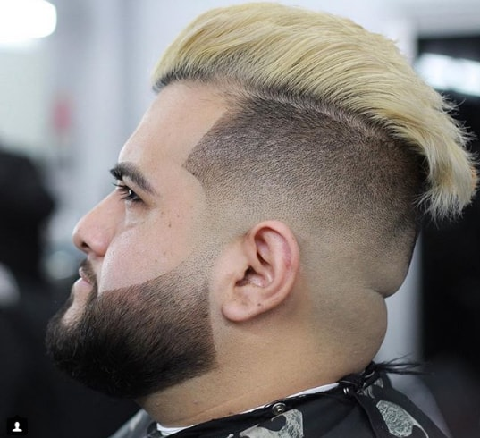 Undercut With Hard Parted Comb Over