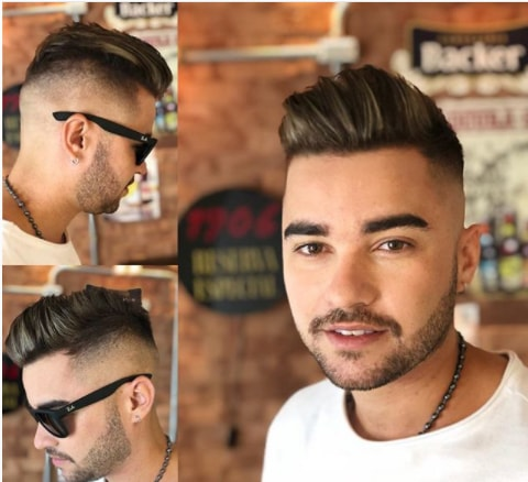 Gelled Hair On Top With Undercut Men Hairstyle