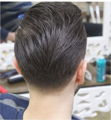 Comb Over Hairstyle With Low Fade Men Hairstyle