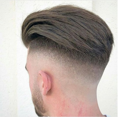 Long Combed Back Hair With Disconnected Undercut