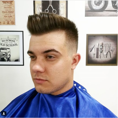 Slanting Flat top With Undercut Men Hairstyle