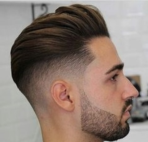 Combed Back Hairstyle With Undercut Men Hairstyle