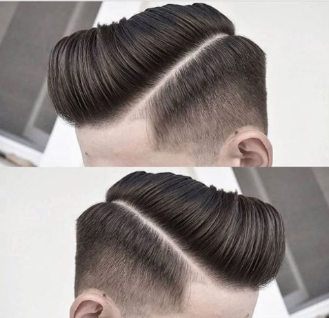 Side Swept Quiff Men Hairstyle