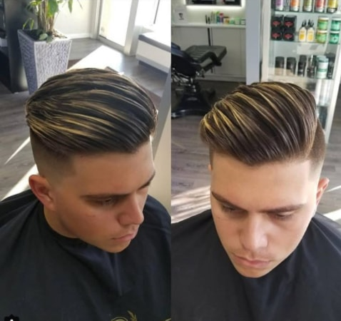 Streaky Side Swept Hair With Disconnected Undercut