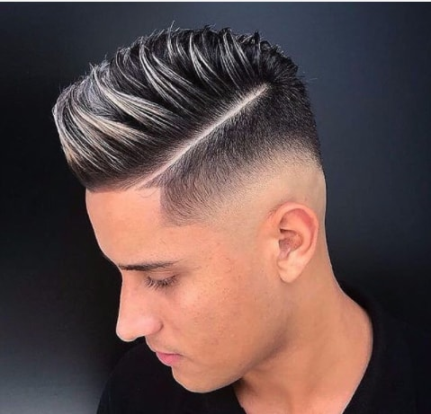 Cool Streaks With Hard Part And Fade