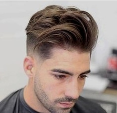 Messy Side Swept Hair With Undercut Men Hairstyle