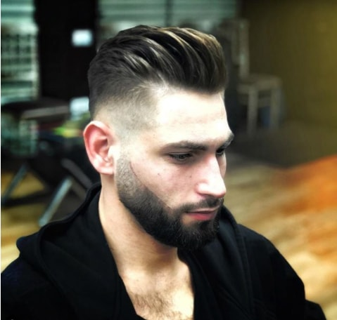 Combover with Undercut Men Hairstyle