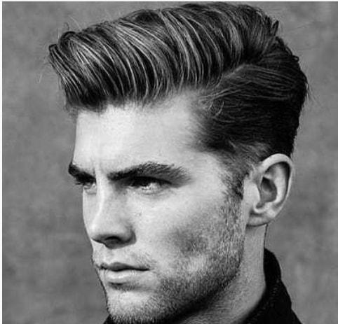 Wavy Side Swept Locks Men Hairstyle