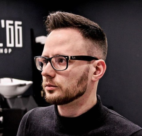 High Fade Haircut With Quiff